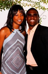 Toree and Kevin Hart at the Fox TV Emmy After Party.