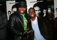 Page Kennedy and Kevin Hart at the premiere of