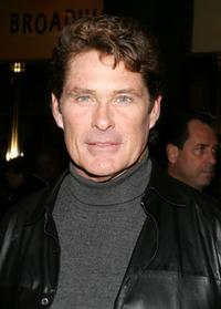 David Hasselhoff at the Broadway opening of