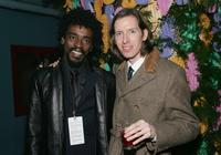 Seu Jorge and Wes Anderson at the after party of the premiere of