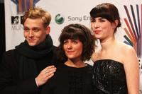 Matthias Schweighofer, Sarah Kuttner and Nora Tschirner at the MTV Europe Music Awards 2007.