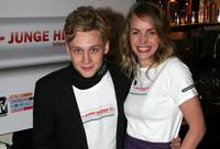 Matthias Schweighofer and Simone Hanselmann at the MTV Meets Junge Helden charity event.