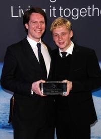 Philipp von Schulthess and Matthias Schweighofer at the Cienma for Peace Awards 2009.