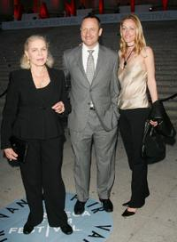 Lauren Bacall, her son Sam Robards and his wife Sidsel at the Vanity Fair 2007 Tribeca Film Festival party.