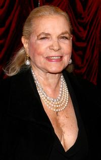 Lauren Bacall at the Broadway opening night of