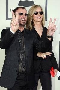 Barbara Bach and her husband Ringo Starr at the 50th annual Grammy awards held at the Staples Center.