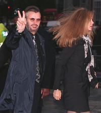 Barbara Bach and her husband Ringo Starr at the church of St Martin in central London where they attended a memorial service for Linda McCartney.