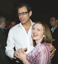 Jeff Goldblum and Svetlana Efremova at the after party of