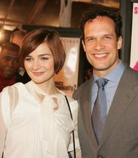 Diedrich Bader and Heather Burns at the premiere of