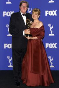Edward Herrmann and Debra Monk at the 1999 Emmy Awards held in Los Angeles.