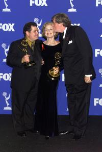 Edward Herrmann, Michael Badalucco and Holland Taylor at the 1999 Emmy Awards held in Los Angeles.