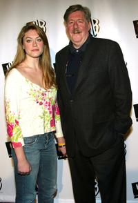 Edward Herrmann and his daughter at the WB 2005 Television Critics Winter Press Tour Party at The WB Studios.