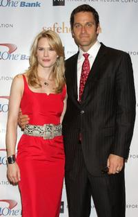 Stephanie March and Peter Hermann at the Safe Horizon Champion Awards Luncheon.