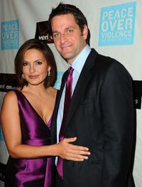 Mariska Hargitay and Peter Hermann at the Peace Over Violence's 38th Annual Humanitarian Awards Dinner.