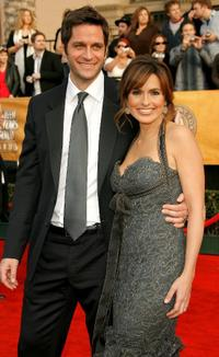 Peter Hermann and Mariska Hargitay at the 13th Annual Screen Actors Guild Awards.