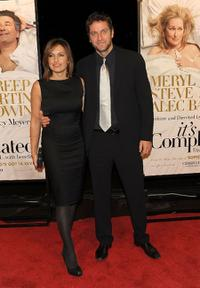 Mariska Hargitay and Peter Hermann at the New York premiere of