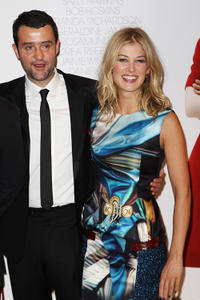 Daniel Mays and Rosaund Pike at the world premiere of