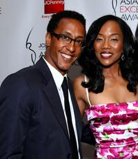 Andre Royo and Sonya Sohn at the 2008 JCPenney Asian Excellence Awards.