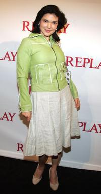 Laura Harring at the Replay Los Angeles store opening party.