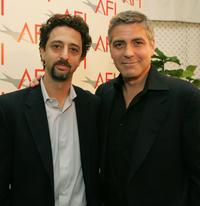 Grant Heslov and George Clooney at the AFI Awards Luncheon 2005.