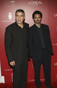 George Clooney and Grant Heslov at the Weinstein Co. Pre-Oscar Party.