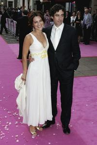 Stephen Mangan and Guest at the premiere of