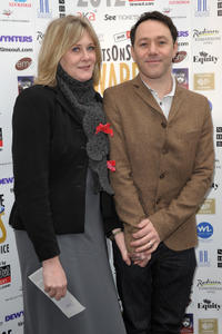 Sarah Lancashire and Reece Shearsmith at the Whatsonstage.com Theatregoers' Choice Awards in London.