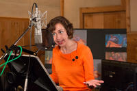 Kristen Schaal on the set of
