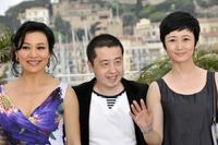 Joan Chen, Jia Zhang Ke and Zhao Tao at the photocall of