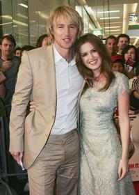 Owen Wilson and Isla Fisher at the Australian premiere of