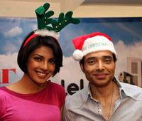 Priyanka Chopra and Uday Chopra at the promotional event of