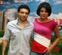 Uday Chopra and Priyanka Chopra at the promotional event of