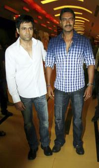 Emran Hashmi and Ajay Devgan at the promotion of