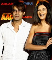 Ajay Devgan and Sushmita Sen at the promotional event of
