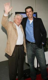 Seymour Cassel and Brandon Molale at the premiere of