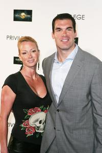 Kimberly Wolfe and Brandon Molale at the premiere party of