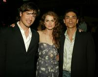 Matthew Settle, Keri Russell and Zahn McClarnon at the after party of the premiere of