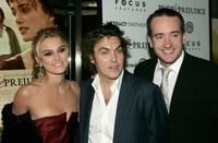 Keira Knightley, director Joe Wright and Matthew MacFadyen at the premiere of