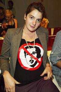 Gaby Hoffmann at the Rachel Comey Spring 2005 fashion show during the Olympus Fashion Week Spring 2005.
