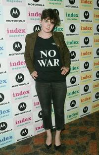 Gaby Hoffmann at the Motorola/Index Magazine benefit.