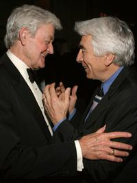 Hal Holbrook and Gordon Davidson at the National Corporate Theater Fund Honors Chita Rivera dinner in New York City.