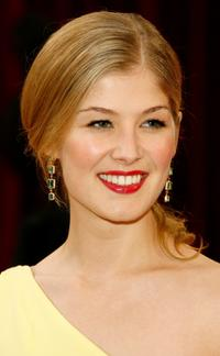 Rosamund Pike at the 80th Annual Academy Awards.