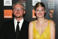 Simon Pegg and Romola Garai at the Orange British Academy Film Awards 2005.