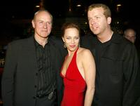 Alan Dale, Melinda Clarke and McG at the Season Finale party of the O.C.