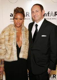 Eve and John Dempsey at the AmFAR Gala honoring the work of John Demsey and Whoopi Goldberg.