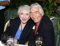 Celeste Holm and director Gordon Davidson at the party after The Actor's Fund of America's presentation of