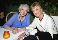 Celeste Holm and actress Angela Lansbury at the party after The Actor's Fund of America's presentation of