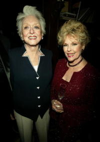 Celeste Holm and Eileen Fulton at the AMPAS Official Oscar Night Celebration.