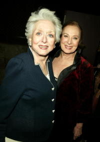 Celeste Holm and Rita Gam at the AMPAS Official Oscar Night Celebration.