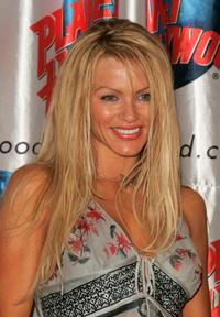 Nikki Ziering at the Planet Hollywood to promote